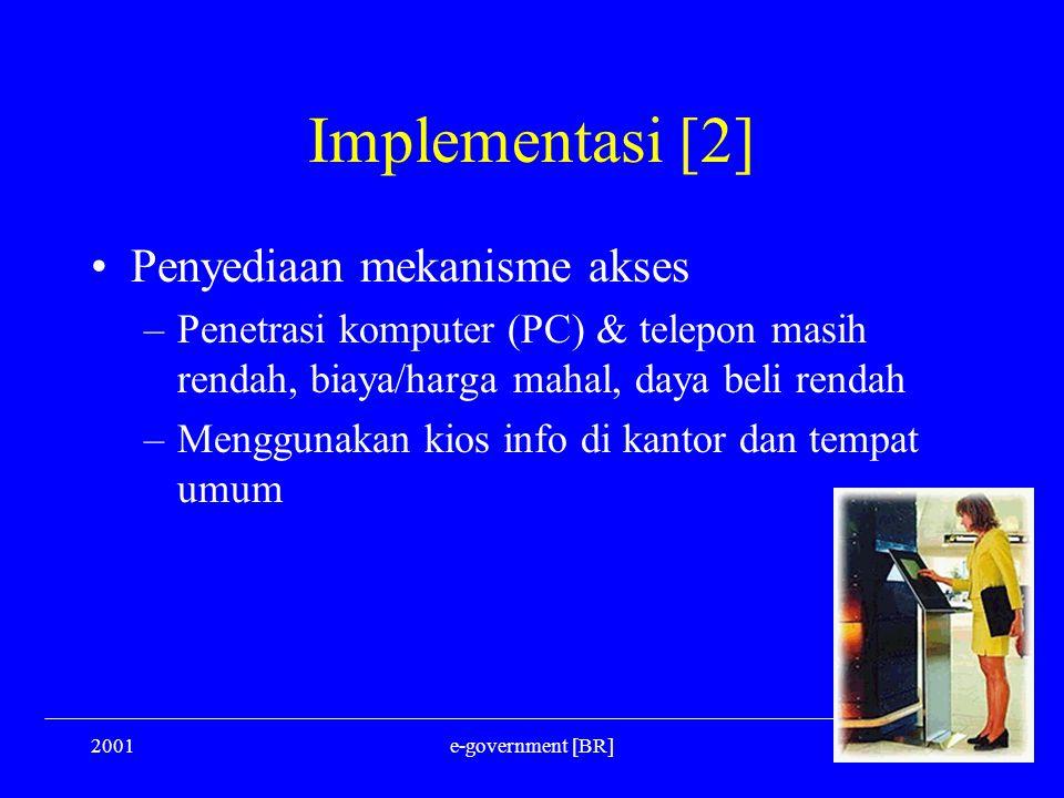 Implementasi [2] Penyediaan mekanisme akses
